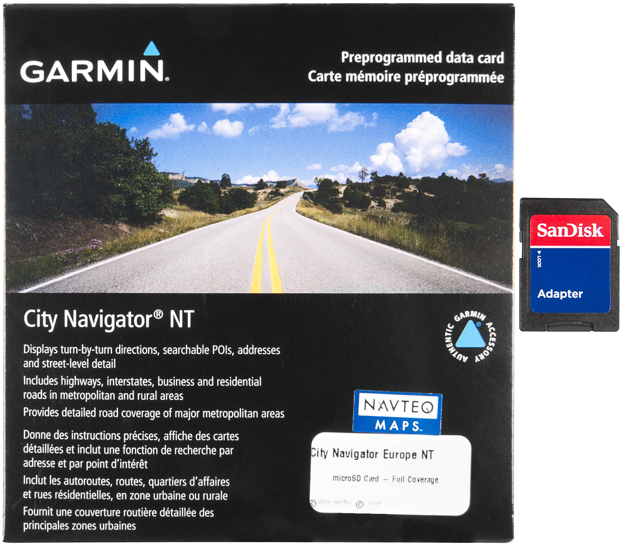 Garmin City Navigator Europe Micro SD/SD Card