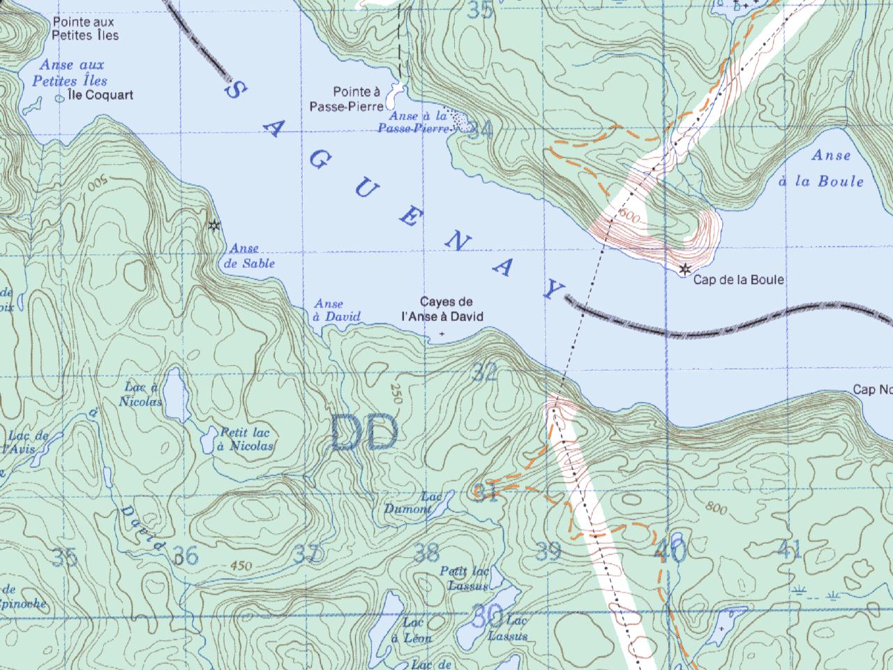 Carte De Kayak-Camping Fjord Du Saguenay | MEC on