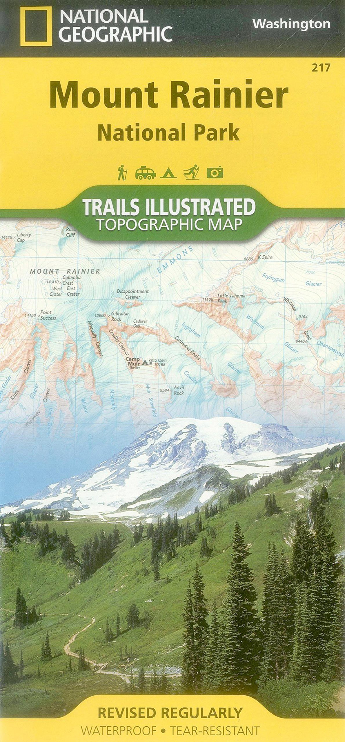 Mt Rainier Topographic Map.Mt Rainier National Park