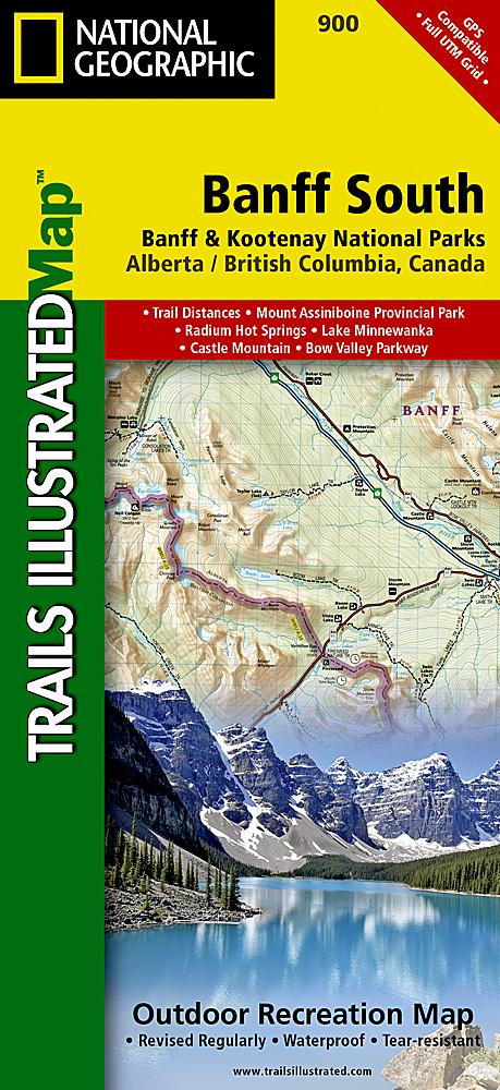 Map Of Canada Banff.Banff South Map Mec