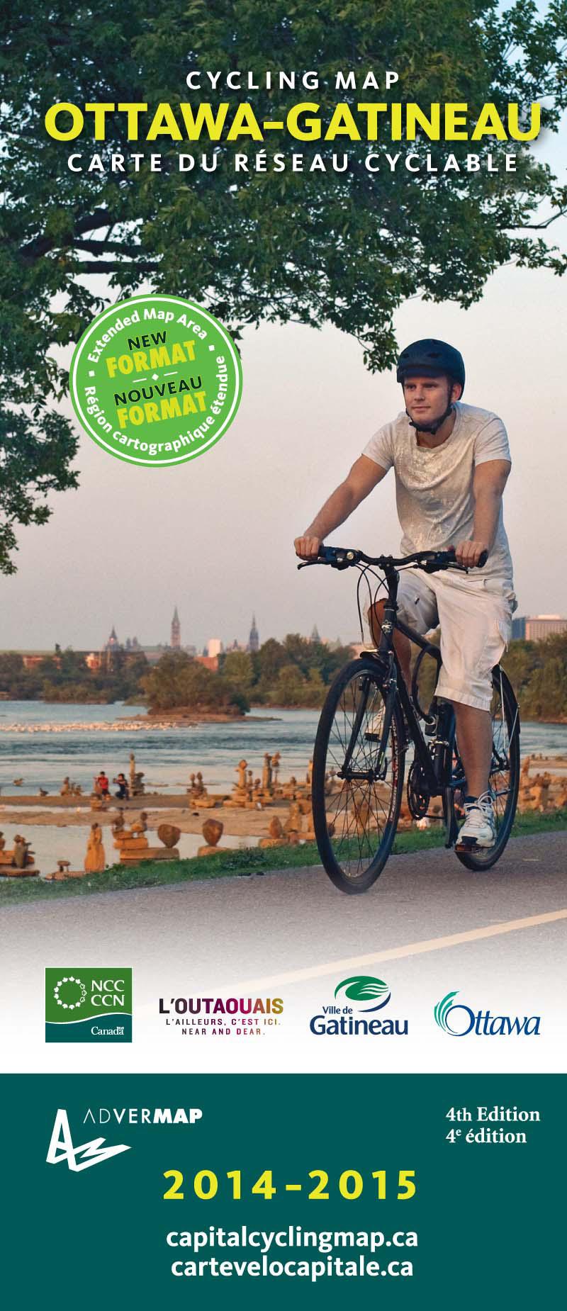 OttawaGatineau Cycling Map 4th Edition