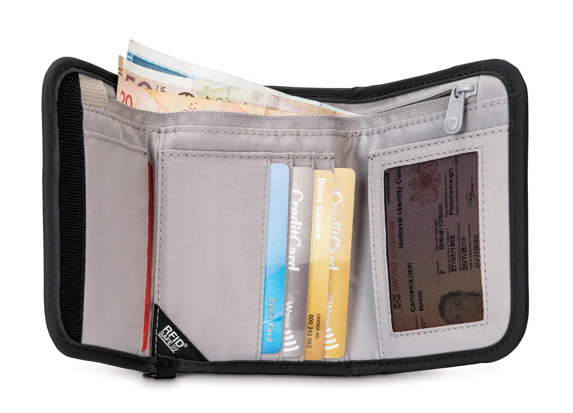 97c0f5151ce Pacsafe RFID safe V125 Trifold Wallet - Unisex | MEC