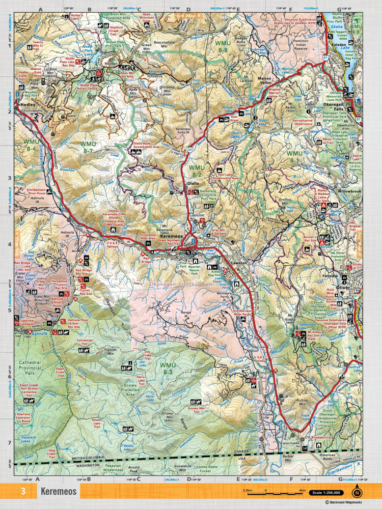 Back Road Maps Backroad Mapbooks Thompson Okanagan BC | MEC