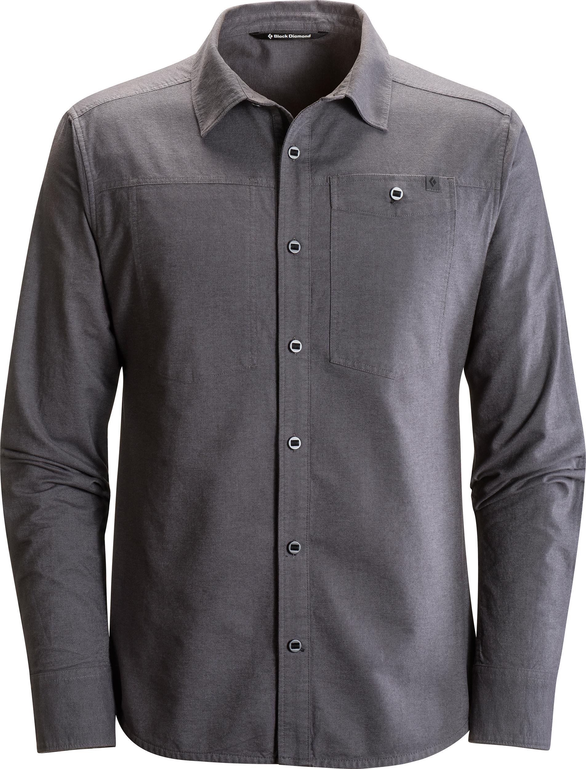 Chocolate Mens X Diamond Long Sleeve Flannel Buttondown Shirt