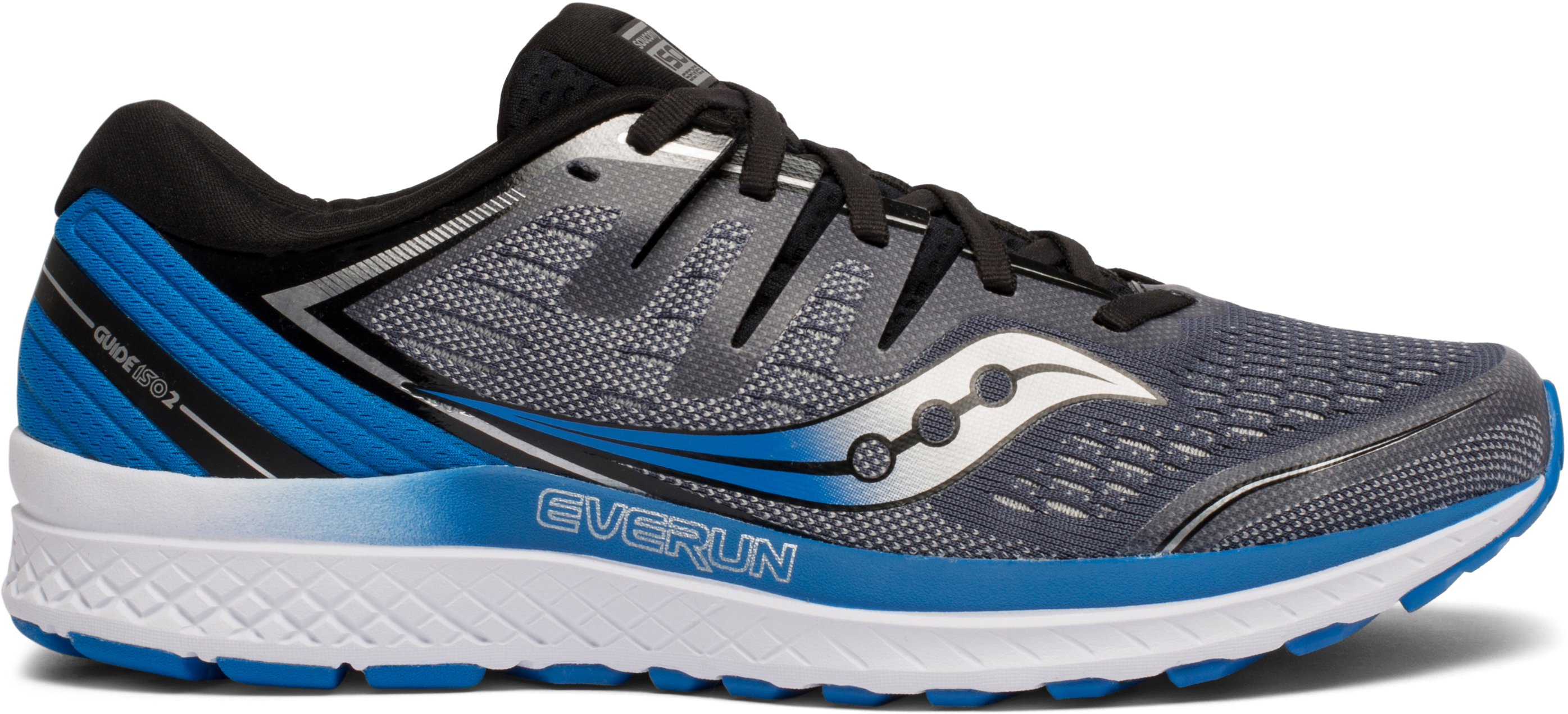 Saucony Guide ISO 2 Womens Running Shoes Blue Cushioned Stability Run Trainers