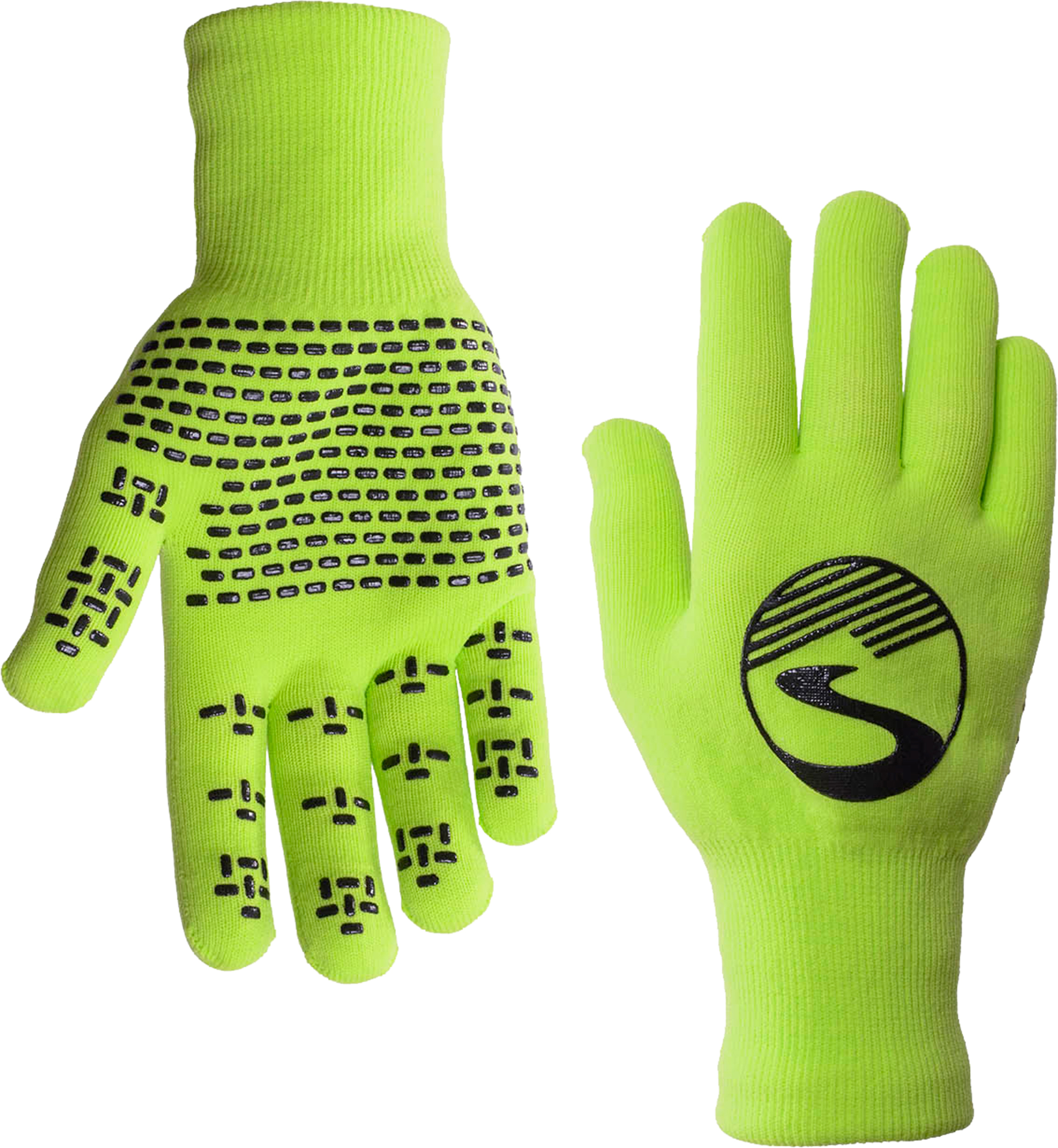 in Black Showers Pass Crosspoint Waterproof Knit Cycling Gloves