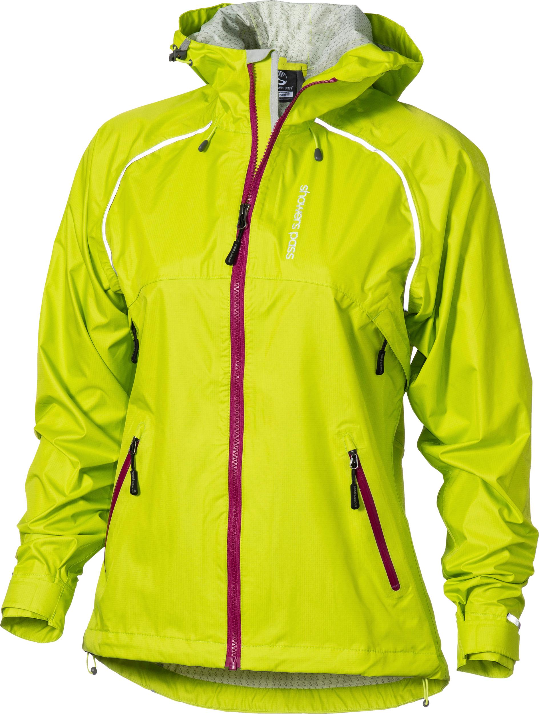 Piu Miglia Waterproof Womens Cycling Jacket Yellow Lightweight Reflective Cycle