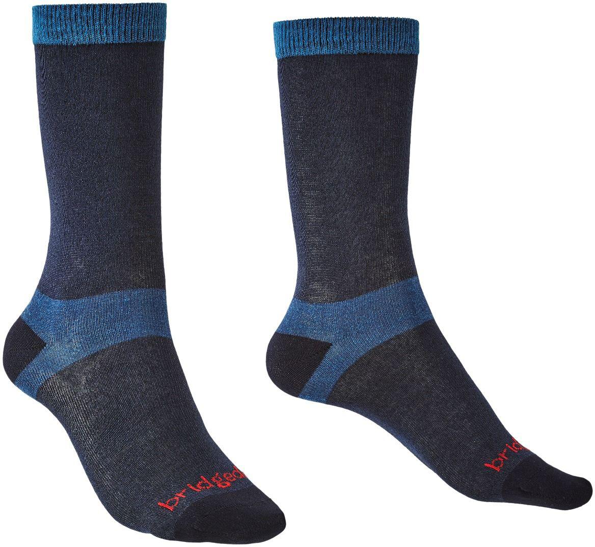 Bridgedale Coolmax Walking Liner Socks Mens 2 Pair Pack Grey