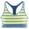 Soutien-gorge Switch It Up Racer Exotique indigo/Rayé céleri