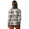 Heartfelt Diamond Cardigan Oatmeal Heather/Deep Navy