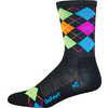 Wooleator HT Argyle Socks Charcoal/HiVis Multicolour