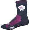 Woolie Boolie Baaad Sheep Socks Charcoal/Pink