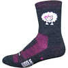 Woolie Boolie Baaad Sheep Socks Charcoal/Pink