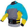 The Duke Long-Sleeved Dry Top Steel Blue/Bright Yellow