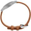 Bracelet Misfit en cuir Brun roux