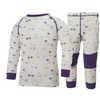 Ensemble de sous-vêtements Warm Blanc/Imprimé pourpre SB