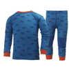 Ensemble de sous-vêtements Lifa en laine mérinos Imprimé bleu Racer
