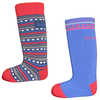 Merino Ski Socks 2 Pack Red/Royal