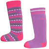 Merino Ski Socks 2 Pack Purple/Fuchsia