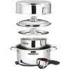 7-Pce Nesting Stainless Steel Cookware Set