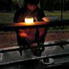 Lanterne à DEL miniHozuki Bleu