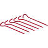 Hook Stakes (6-pack) Red