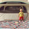 Couverture en tissu Camp Hero Rayures