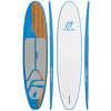 Surf à pagaie Eleven Six Bleu Caroline/Noyer