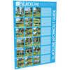 Slackline Fitness Line de 15 m Bleu clair