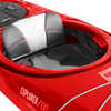 Kayak Explorer/EV1 125 avec dérive Vélocité rouge