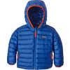 Reversible Down Sweater Hoodie El Nino Camo Small:Viking Blue