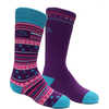 Merino Ski Socks 2 Pack Fuschia/Blue