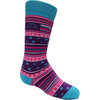 Chaussettes de ski en laine mérinos (2 paires) Fushia/Bleu