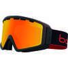 Lunettes de ski Z5 OTG Noir mat naturel rouge/Levé de soleil