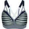 Curvy Strappy Bra Ceramic Gray Blurred Stripe Print