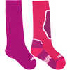 Chaussettes de ski Brave (2 paires) Magenta/Vin pourpre