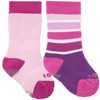 Chaussettes de bébé Colour Fan (2 paires) Rose violet éventail de couleurs/Ballerine