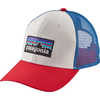 P-6 Logo Trucker Hat White/Fire/Andes Blue