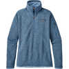 Chandail Better Sweater à glissière courte Bleu chemin de fer