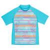 Shadow Short Sleeve Sun Shirt Miami Blue/Miami Blue Palm Print