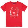Jaden Organic Cotton Short Sleeve Tee Cardinal Red Bearface Graphic