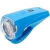 Phare de vélo à DEL blanche Quattro USB Bleu clair