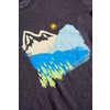 T-shirt Mountain Ink Charbon de bois