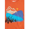 T-shirt Mountain Ink Orange