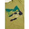 T-shirt Woodcut River Olive