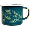 Upstream Enamel Mug Teal