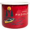 Keep Paddling Enamel Mug Red