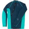 Carver Long Sleeve Neoprene Top Turquoise/Navy