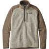 Chandail à glissière ¼ Bettersweater Pierre blanchie/Kaki pâle