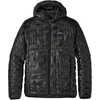 Manteau à capuchon Micro Puff Noir